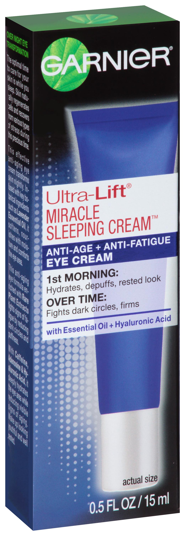 Garnier® Ultra-Lift® Miracle Sleeping Cream™ Anti-Age + Anti-Fatigue Eye Cream 0.5 oz. Tube