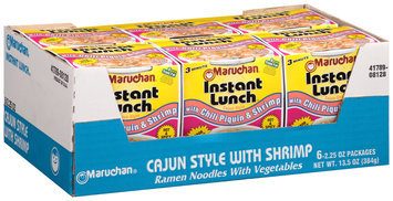 Maruchan® Instant Lunch™ with Chili Piquin & Shrimp Ramen Noodles with Vegetables 6-2.25 oz. Cups