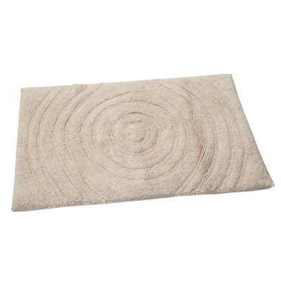 Textile Decor Castle Castle Hill 100% Cotton Echo Spray Latex Back Bath Rug, 40 H X 24 W, Ivory
