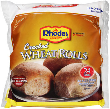 Rhodes Bake-N-Serv® Frozen Cracked Wheat Rolls Dough 24 ct Bag