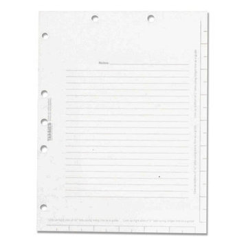 Tabbies Legal Index Divider Sheets, White, Pack Of 100