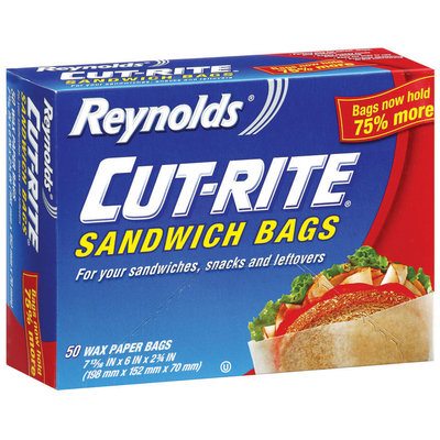 REYNOLDS CUT-RITE WAX PAPER Wax Paper Sandwich Bags 50 CT BOX