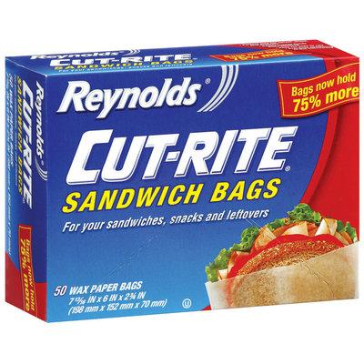 REYNOLDS CUT-RITE WAX PAPER Wax Paper Sandwich Bags 50 CT BOX
