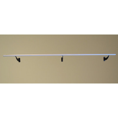 Vitavibe Wall Barre Series Modern Aluminum Single Bar Fixed Height Ballet Barre Kit Size: 6 ft.