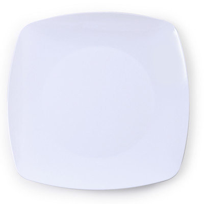 Fineline Settings, Inc Renaissance 5.5 Rounded Square China-Like Plates (Case of 120), White