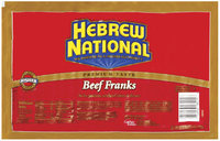 Hebrew National Beef 20 Ct Franks 52.8 Oz Package