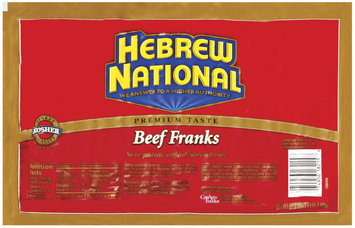 Hebrew National Beef 20 Ct Franks 52.8 Oz Package