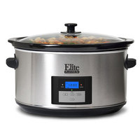 Elite By Maxi-matic Platinum 8.5-Quart Stainless Steel Digital Slow Cooker