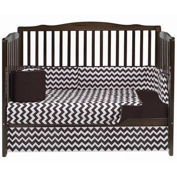 Baby Doll Bedding Chevron 4 Piece Crib Bedding Set Color: Brown