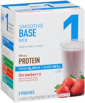 Great Value Whey Protein Strawberry Smoothie Base Mix 5-0.88 oz. Pouches