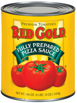 Red Gold Fully Prepared Pizza Sauce 106 Oz Can