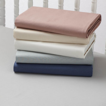 Coyuchi Percale 220 Crib Fitted Sheet Color: French Blue