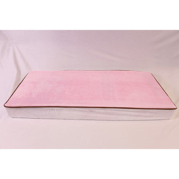 Bacati Velour Changing Pad Cover - Pink