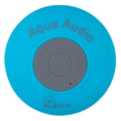 Zadro Aqua Audio Water Resistant Bluetooth Speaker Color: Blue