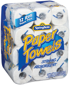 Springfield Value Pack 12 Rolls Paper Towels