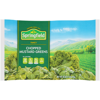 Springfield® Fancy Chopped Mustard Greens 16 oz. Bag