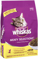 Whiskas Meaty Selections Chicken & Turkey Flavors Adult 1+ Yrs Dry Cat Food 3 Lb Bag