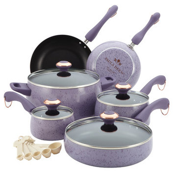 Paula Deen 15 Piece Nonstick Cookware Set Speckled - MEYER CORPORATION US-FARBERWARE DIVISION