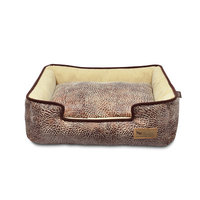 PLAY Savannah Brown Lounge Dog Bed Medium