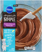 Pillsbury Purely Simple™ Chocolate Buttercream Frosting Mix 13.2 oz. Pouch