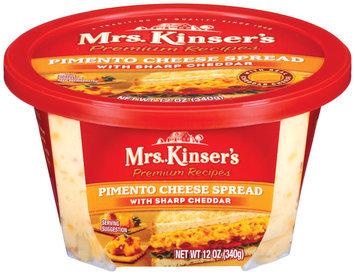 Mrs. Kinser's Pimento W/Sharp Cheddar Cheese Spread 12 Oz Tub