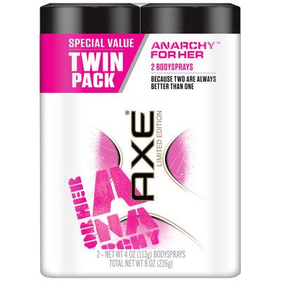 AXE® Anarchy™ For Her Bodyspray Twin Pack 2-4 oz. Bodysprays