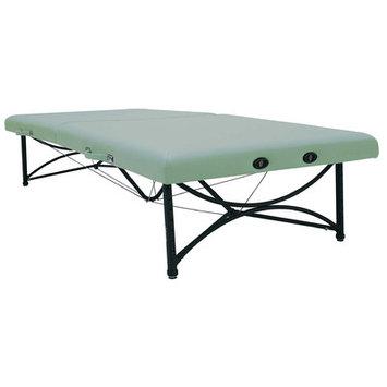 Oakworks Storable Mat Table Color: Sage, Width: 40