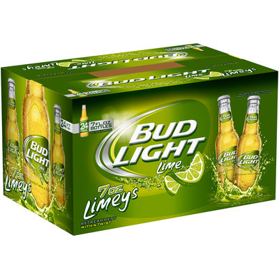Bud Light Lime 7 Oz 4 - 6 Pks Beer 24 Pk Glass Bottles