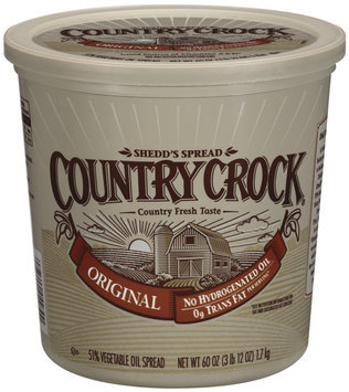 Shedd's Spread Country Crock Original 51% Vegetable Oil Spread 60 Oz Plastic Tub