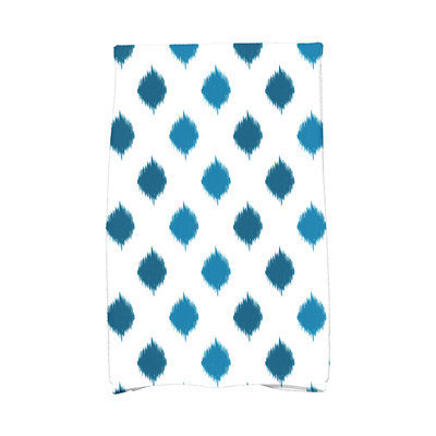 E By Design Hanukkah Ikat Dot Stripes Hand Towel Color: Teal