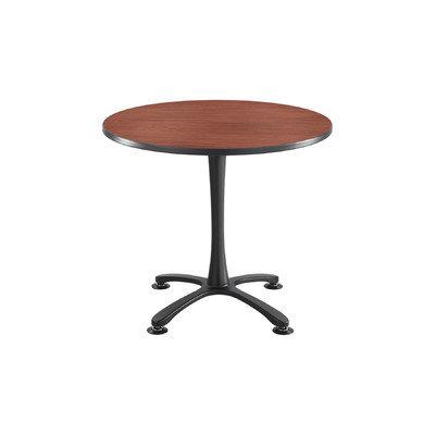 Safco(R) Cha-Cha X-Base Sitting-Height Table, Gray/Black