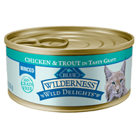 THE BLUE BUFFALO CO. BLUE™ Wilderness® Wild Delights™ Minced Chicken & Trout Recipe For Adult Cats