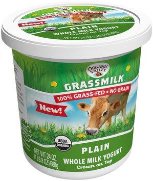 Organic Valley® Grassmilk™ Plain Whole Milk Yogurt 24 oz. Tup