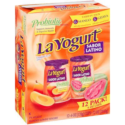 La Yogurt® Probiotic Mango & Guava Blended Lowfat Yogurt Sabor Latino Variety Pack 12-6 oz. Cups