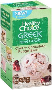 Healthy Choice® Cherry Chocolate Swirl Greek Frozen Yogurt Frozen Dairy Snack 3-4 fl. oz. Cups