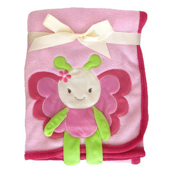 Beansprout 3D Blanket Butterfly Crib Throw