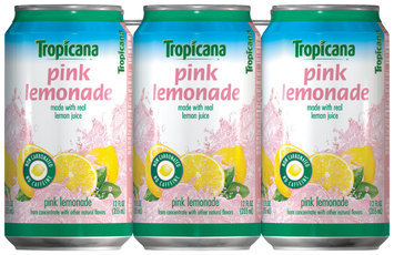 Tropicana® Pink Lemonade Flavored Juice Drink 6 Pack 12 fl. oz. Cans