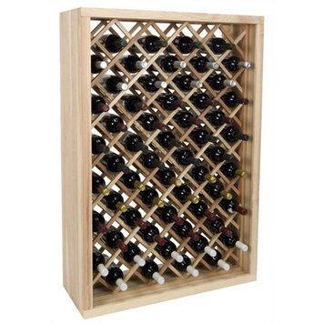 Wine Cellar Vintner Series 58 Bottle Wine Rack Finish: Redwood / Mahogany