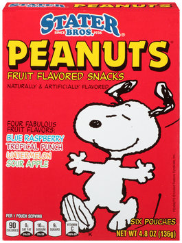 Stater Bros.® Peanuts® Assorted Fruit Snacks 4.8 oz. Box