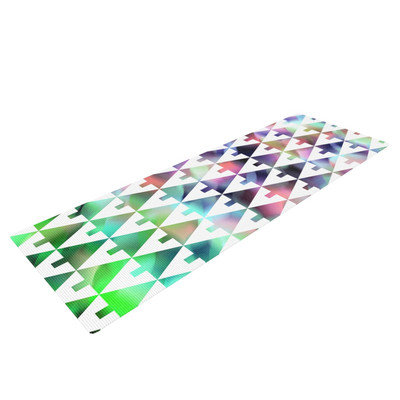 Kess Inhouse X-Mas Party by Gabriela Fuente Pastel Geometric Yoga Mat
