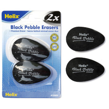 Maped Helix Usa 25005 Black Pebble Erasers 2 Count