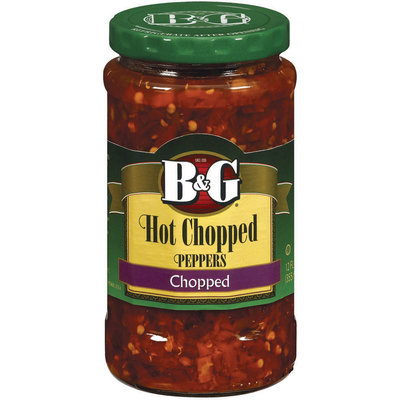 B&G Hot Chopped Peppers 12 Oz Jar
