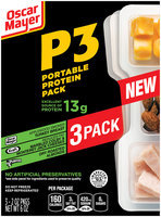 Oscar Mayer P3 Turkey Breast, Colby Jack Cheese & Almonds Portable Protein Pack 3-2.0 oz. Trays