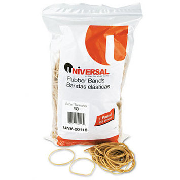 Universal Rubber Bands Size 18 Bagged(Case of 6)