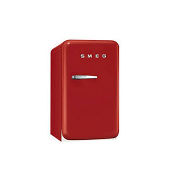 Smeg FAB5ULR 1.5 Cu. Ft. Red Undercounter Compact Refrigerator - Left Hinge