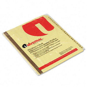 Universal Office Products Index Tabs and Dividers Universal A-Z Index