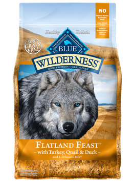 THE BLUE BUFFALO CO. BLUE™ Wilderness® Flatland Feast™ with Turkey, Quail & Duck Grain-Free Dry Dog Food