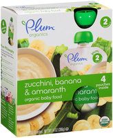 Plum™ Organics Yum™ Stage 2 Zucchini, Banana & Amaranth Organic Baby Food 4-3.5 oz. Pouches