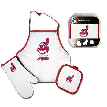 Mcarthur Towel Cleveland Indians 3-Piece BBQ Tailgate Set White