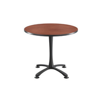 Safco(R) Cha-Cha X-Base Sitting-Height Table, 29in.H x 29in.W x 29in.D, Cherry/Black